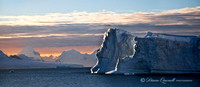 """Sunset Bergs"", Antarctic Peninsula"